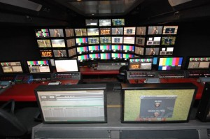 Displays from Alfacam's OB truck for the World Cup using SVH-1920  LCD Controller